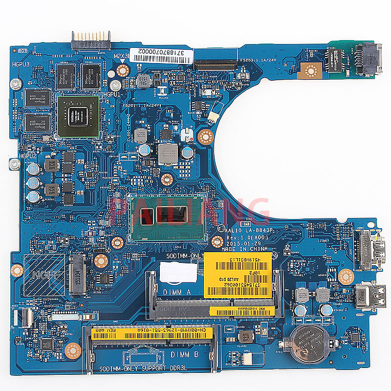 PAILIANG Laptop motherboard for DELL Inspirion 5000 5458 5558 5758 I3 4005U PC Mainboard CN 00KMM8