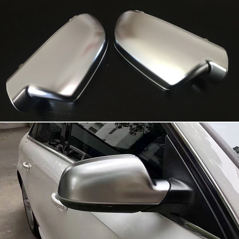 2pcs Silver ABS Chrome Side View Mirrors Replacement Caps Cover For Audi A5 2010 2016
