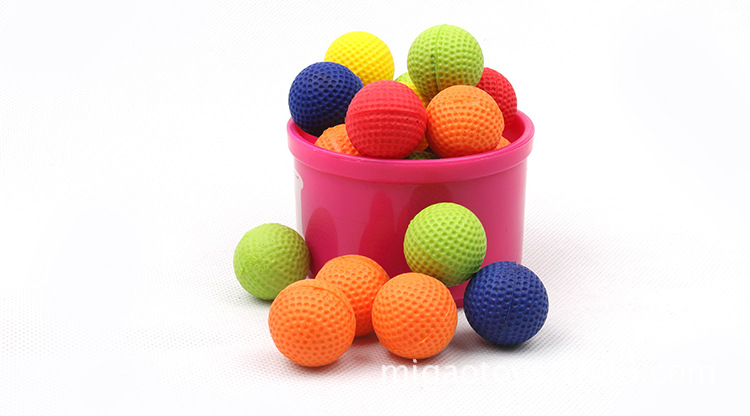 25pcs 4color mixed 21mm Air soft EVA Round ball gun ammos.EVA foam bullets gun shot paintballs