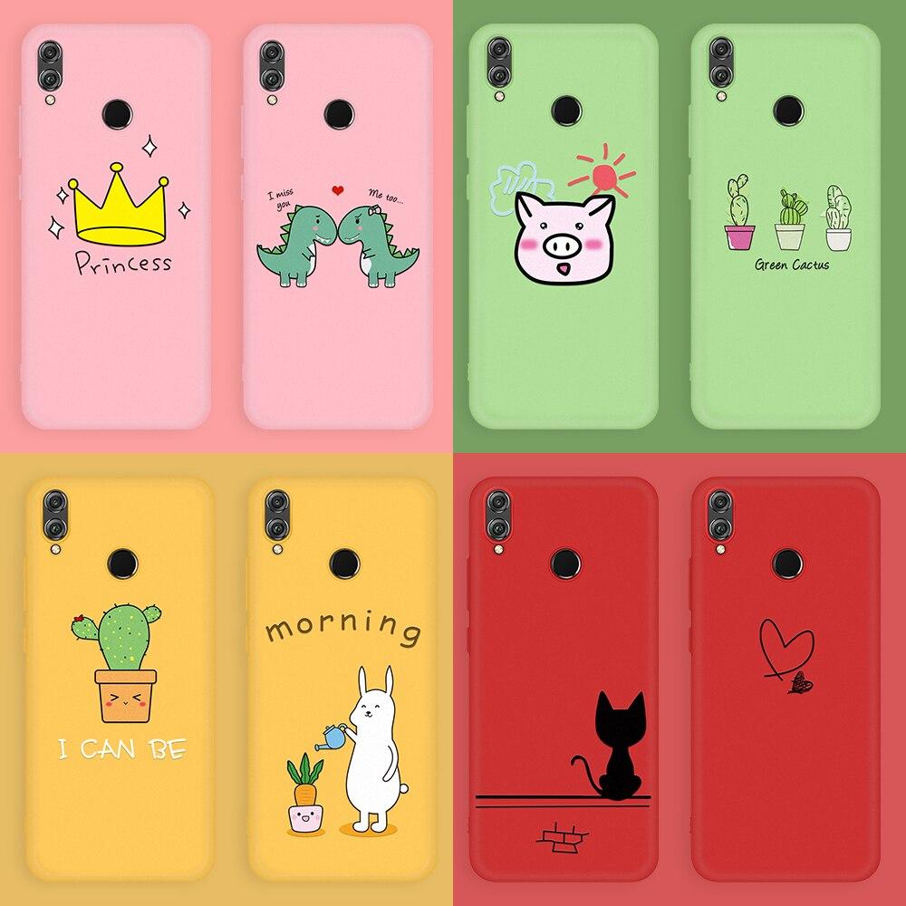Чехол с милым рисунком для телефона Huawei Honor 8X 10i 20i 20 Pro 9 10 20 Lite, мягкий силиконовый чехол для Honor 10 Lite 10i 8x, чехлы с сердцем