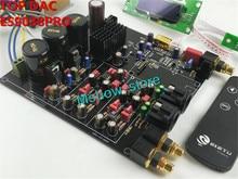 Nowy hifi TOP ES9038 ES9038PRO dekoder DAC zmontowana płyta + TCXO 0.1PPM + pilot + opcja USB XMOS XU208 lub Amanero
