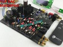 새로운 hifi top es9038 es9038pro dac 디코더 조립 보드 + tcxo 0.1ppm + 원격 제어 + 옵션 usb xmos xu208 또는 amanero