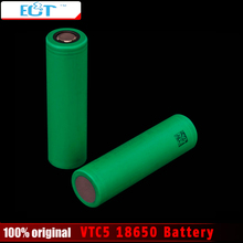 3.7V 18650 Battery VTC5 2600mAh High drain VTC5 30A battery for 18650 e Cigarette Mods Rechargeble Battery 1pcs or 2pcs