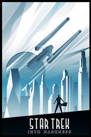 Home Wall Decor Print Star Trek Into Darkness Art Deco Style 40x60cm Custom Wall Sticker Poster