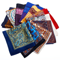 2017 New Arrival Mens Suit Paisley Handkerchief Men's 100% Silk Handkerchiefs Pocket Square Hanky Men Cloth Accessories