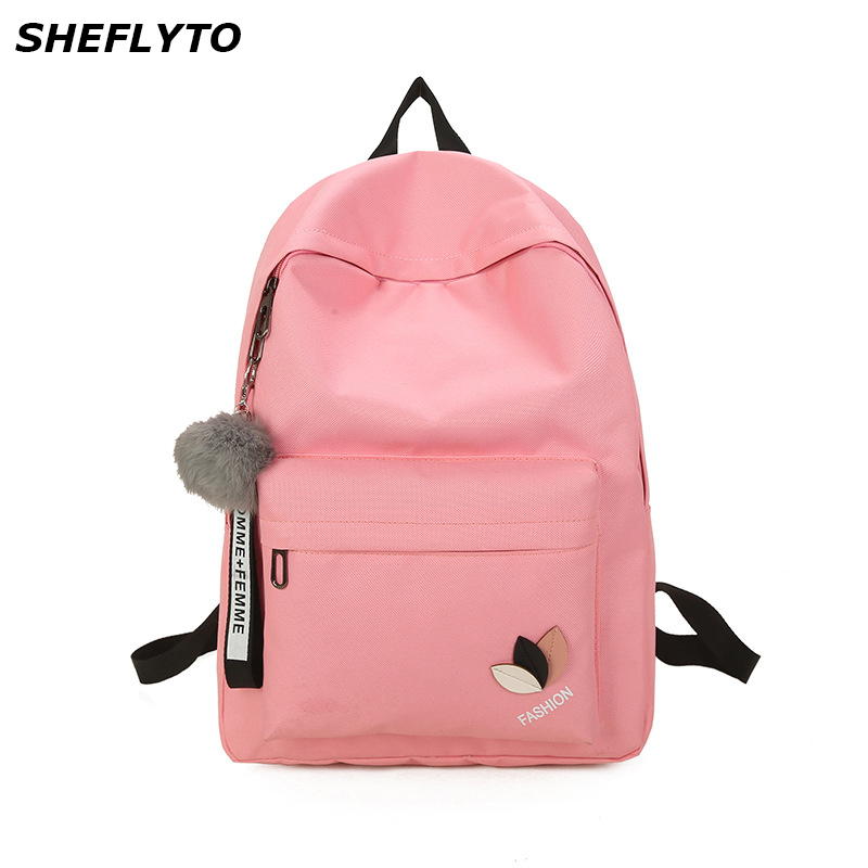 Fashion Women Waterproof Nylon Backpacks Female Rucksack Pink School Backpack For Girls Fashion Travel Bag Notebook Bag Bolsas стоимость