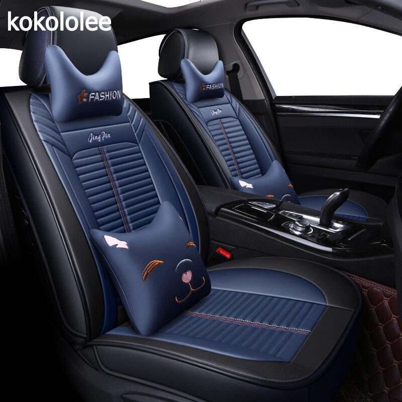 KOKOLOLEE housses de siège de voiture pour mitsubishi lancer 9 10 ex ix x Outlander 3 xl pajero 2 3 4 sport accessoires auto voiture style