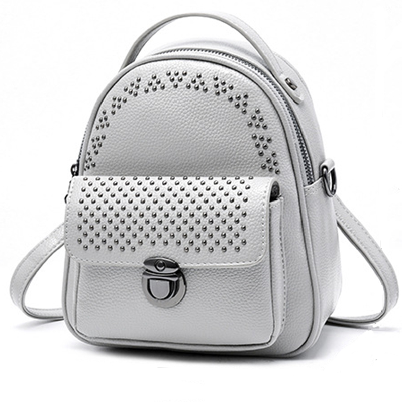 Women Backpack Leather Bag Feminine School Bags For Teenager Girls Sac A Dos Rivets Small Bagpack Women Casual High Quality NewWomen Backpack Leather Bag Feminine School Bags For Teenager Girls Sac A Dos Rivets Small Bagpack Women Casual High Quality New