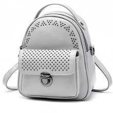 Women Backpack Leather Bag Feminine School Bags For Teenager Girls Sac A Dos Rivets Small Bagpack Women Casual High Quality New