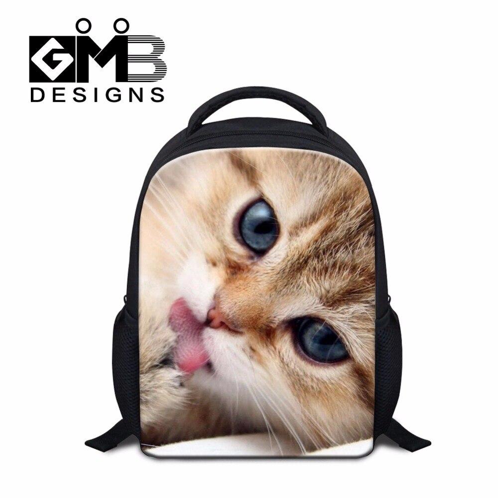 Cute Cat Printing Backpacks for kids Kindergarten Girls Small Animal Back Pack School Bags for little children clear bookbag