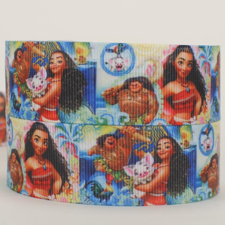 125mm  New  cartoon Fashion Moana girl  cartoon  ribbon  grosgrain ribbon Free shipping