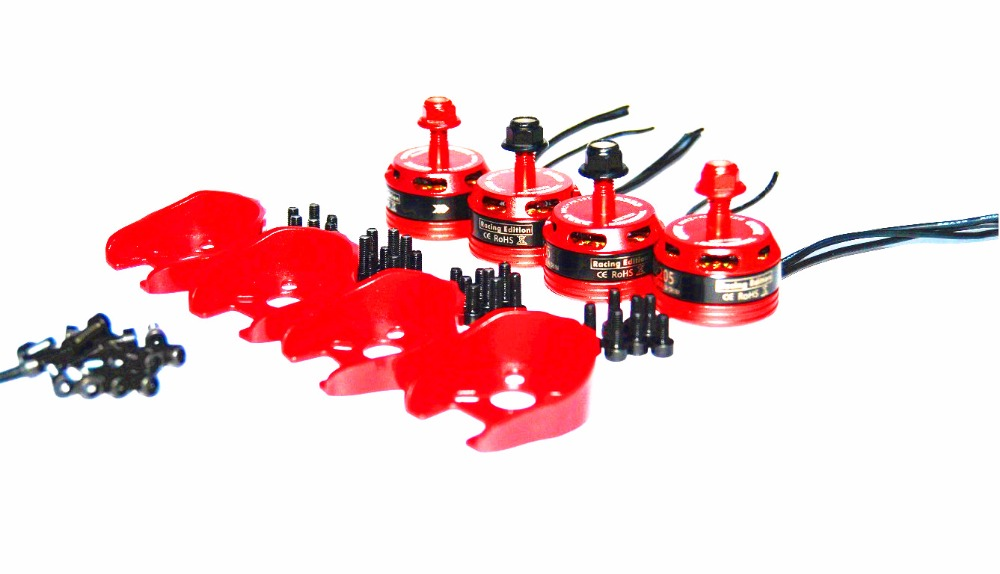 New Arrival 4pcs TendFlying DX2205 <font><b>BR2205</b></font> 2300KV 2-4S Brushless Motor 2 CW & 2 CCW For QAV250 ZMR250 260 Multirotor image