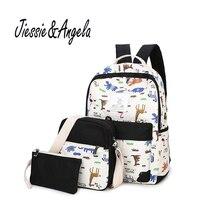 Jiessie & Angela Лидер продаж Mochila Feminina женские рюкзак холст для девочек-подростков школьная сумка дорожная сумка рюкзак Mochila