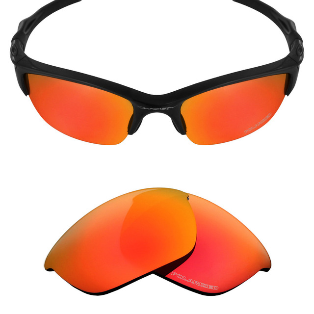 ef88d9a8f8a Mryok+ POLARIZED Resist SeaWater Replacement Lenses for Oakley Half Jacket  2.0 Sunglasses Fire Red