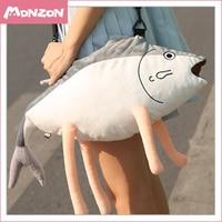 Anime Kantai Collection cosplay Cartoon salted fish Image Lovely plush girls Unisex Handbags Crossbody bags Leisure street bag