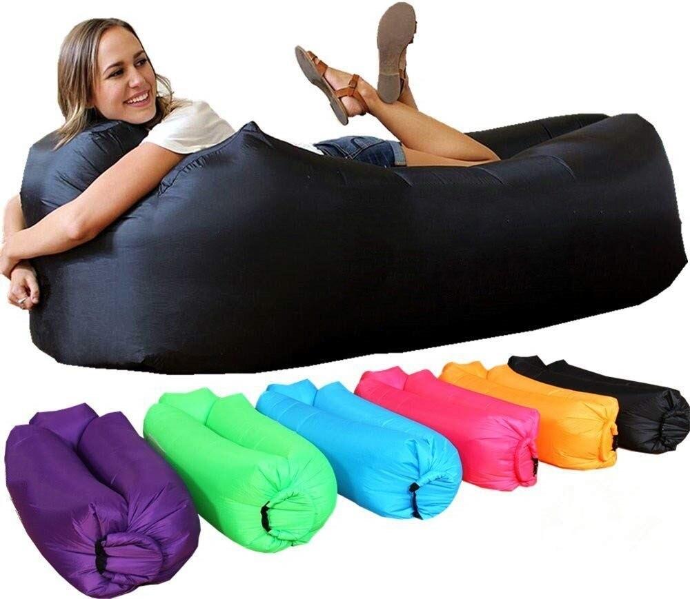 Para dormir bolsa impermeable bolsa inflable perezoso sofá de bolsas de dormir cama de aire para silla de playa plegable Fast