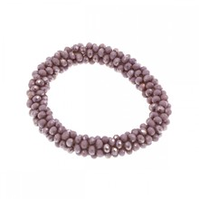 fashion Handmade chaming purple crystal stretch beaded bracelet U pick color(China)