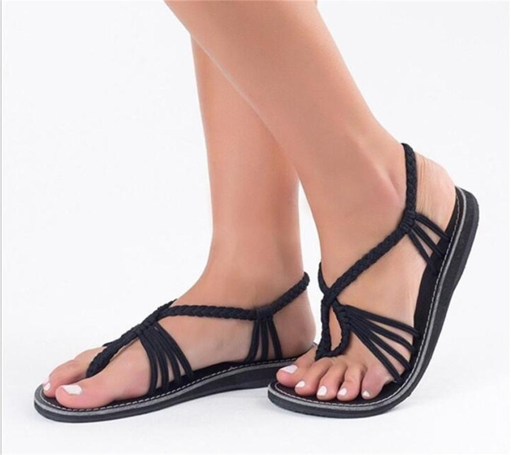Women Summer Vintage Gladiator Shoes Beach Lace up Sandals Flat Heels Slippers Ladies Beach sandalias brand shoes woman flock gladiator sandals women summer dress shoes lace up high heels fringe beach casual shoes ladies sandals