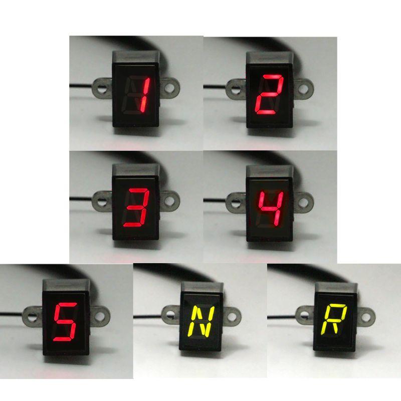 Мотоцикл Шестерни Индикатор 6-Скорость цифровой Дисплей внедорожные Мотокросс светильник общего Применение нейтральный двигатель запасных Запчасти