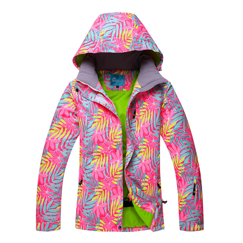 2018 Women Ski Jacket Ski Wear Waterproof Windproof Breathable Super Warm Skiing Snowboard Coat Thicken Thermal Hooded Female