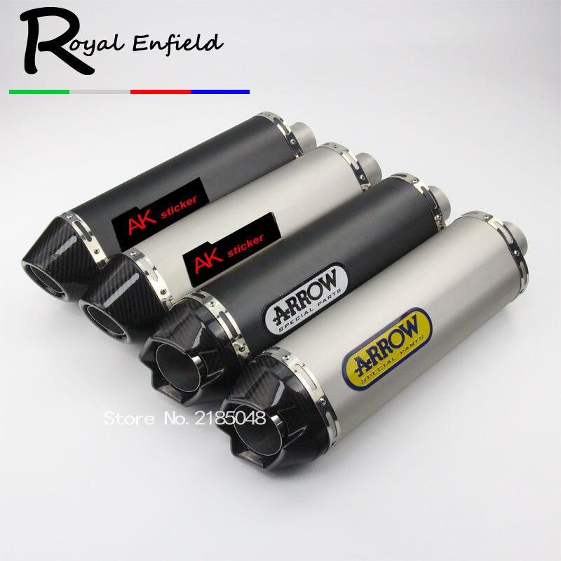 Universel 36-51mm modifié Moto d'échappement Eescape Moto silencieux tuyau autocollant pour BMW S1000RR MT09 CBR1000 R6 Ninja300
