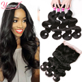 Peruvian 360 Lace Frontal With Bundle 360 Lace Virgin Hair With Bundles 4 Bundles Peruvian Body Wave With 360 Frontal Closure
