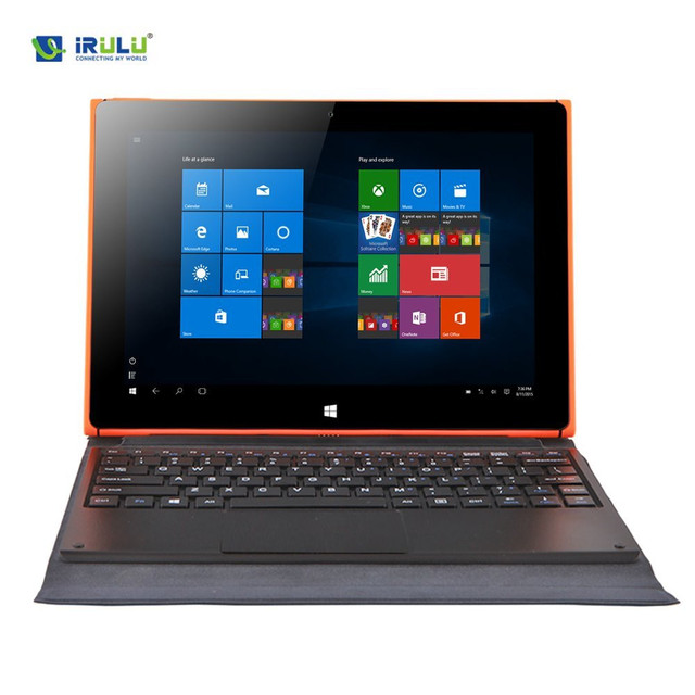 iRULU Walknbook 10.1 Inch Google Play Windows 10 Tablet pc 32GB 2 in 1 Convertible Laptop HD 1280x800 IPS Detachable Keyboard