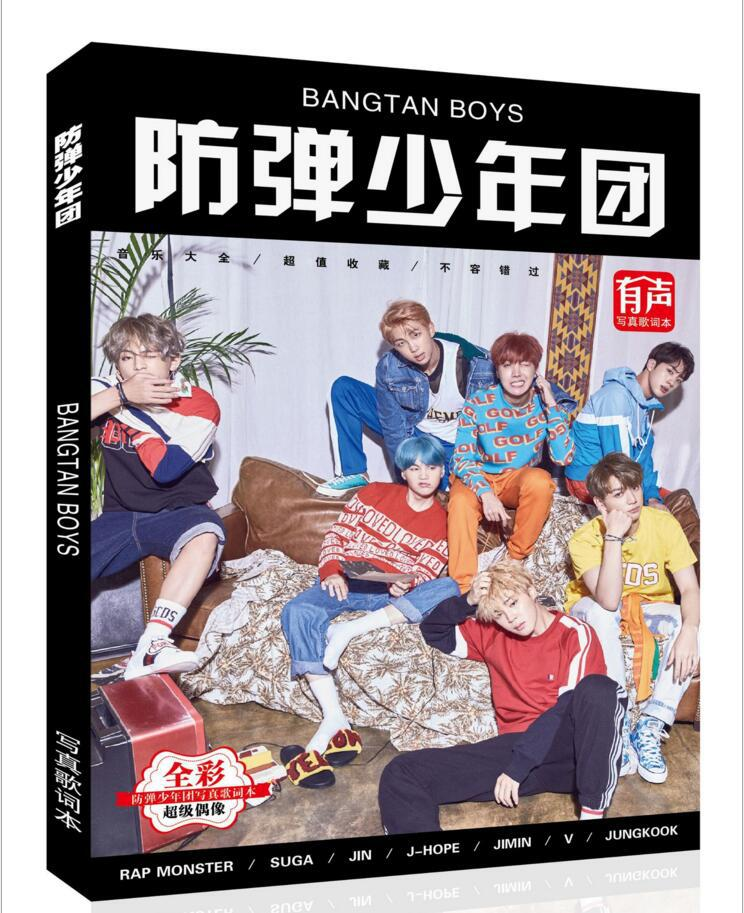 2018 new kpop BTS bangtan boys photo album k-pop Photo lyrics The new album wings with the same star products k pop poster books ...