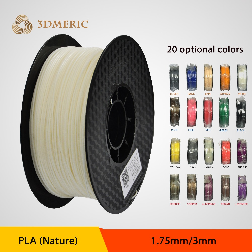 Wholesale 2016 PLA1.75mm/3.0mm 3D printing filament for 3D printer with 20colors avaliable 2016 lcd diy 3d metal printer large printing size 3d printer machine 3d printer kit with 2 rolls filament 2gb sd card for free