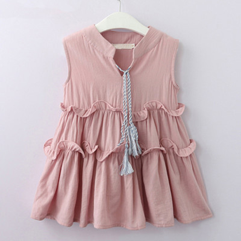 Girls Dress 2019 New Summer Brand Girls Clothes Lace And Ball Design Baby Girls Dress Party Dress For 3 7 Years in Dresses from Mother Kids