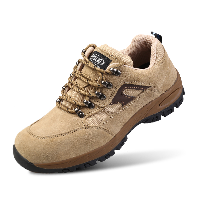 large size mens steel toe caps work safety shoes anti pierce soft leather construction site worker