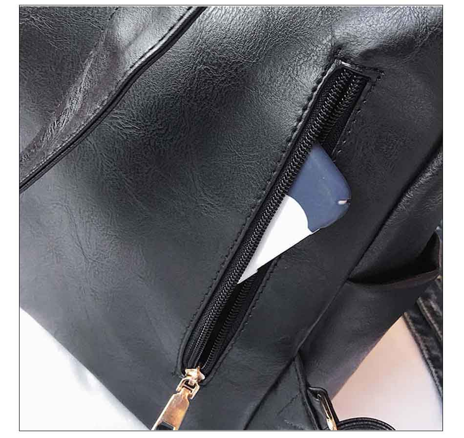HTB1TEm nPnD8KJjSspbq6zbEXXaJ Leather Backpack Women 2019 Students School Bag Large Backpacks Multifunction Travel Bags Mochila Pink Vintage Back Pack XA529H