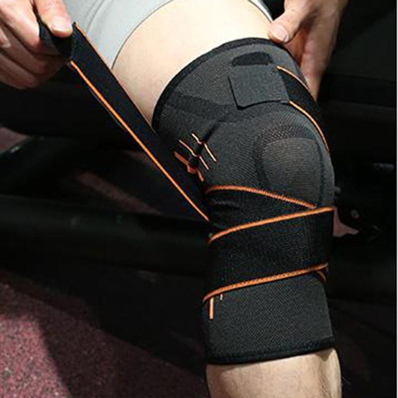 1pc Fitness Running Cycling Bandage Knee Support Braces Elastic Sports Protective Compression Pad Sleeve 1pcs fitness running cycling knee support braces elastic nylon sport compression volleyball basketball knee pad sleeve for men