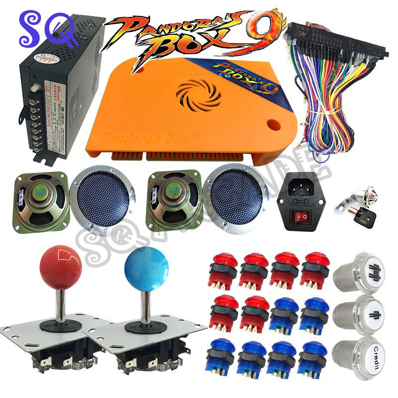 Newest Pandora Box 9 1500 in 1 DIY Arcade Bundles Kits Parts video game board With Power Supply Jamma wiring Joystick led buttonNewest Pandora Box 9 1500 in 1 DIY Arcade Bundles Kits Parts video game board With Power Supply Jamma wiring Joystick led button