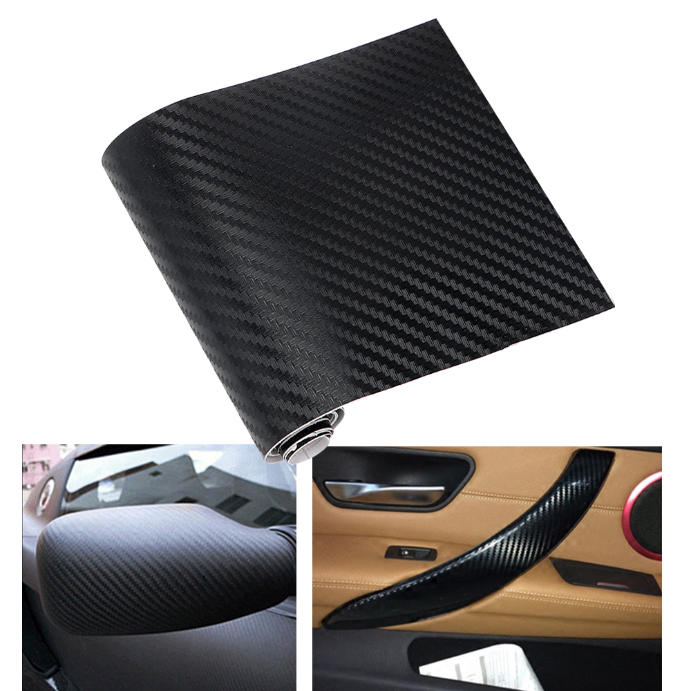 10x127cm Carbon Fiber Vinyl Film Car Stickers Waterproof Car Styling Wrap For Auto Vehicle Motorcycle Detailing Car Accessories 2x universal waterproof rearview mirror film car stickers antifog auto dimming sticker rain proof vinyl wrap film car styling
