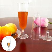 10pcs Disposable Tableware For Champagne Plastic Cup Party Red Wine Glass Vintage Dishware 150ml Cups A20