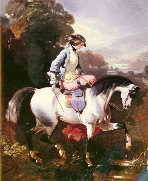 free shipping classic court figure horse riding scenery canvas prints oil painting printed on canvas wall art decoration picture