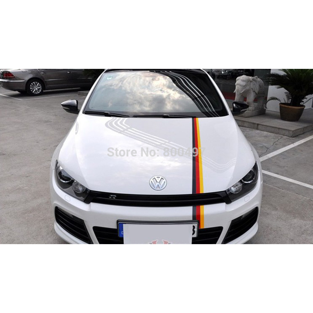 3 x germany flag red yellow black car sticker whole body. Black Bedroom Furniture Sets. Home Design Ideas