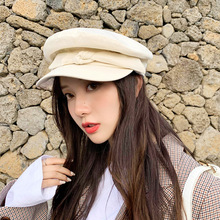 Fashion Cotton Flat Top Beret hat women Britain octagon hat Big bow 2019 New Autumn Winter painter hat цены онлайн