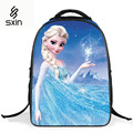 Children School Backpacks 16'' Cartoon Student Backpack Bag Girl Kids Backpack Princess Elsa Anna Waterproof Schoolbag for Girls