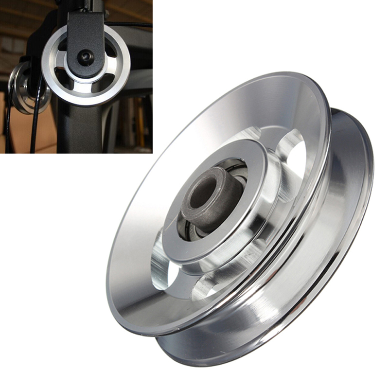 88mm Universal Aluminum Lift Heavy Load Bearing Pulley Wheel Cable Fitness Gym Equipment For Climbing Camping Pulley