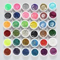 Professional Makeup 36 Colors Nail Art UV Gel Colorful Glitter Nail Gel Excellent Gel Nail Polish