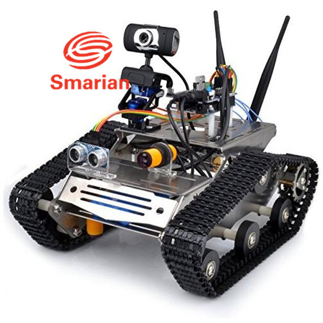 Smarian wifi robot car chassis kit for arduino hd camera ds robot smarian wifi robot car chassis kit for arduino hd camera ds robot smart educational robot kit malvernweather Images