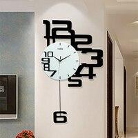 Living Room Wall Clock Modern Design Wall Watches Home Decor Clocks Wall Silent Wooden Minimalist Wall Clock Kitchen WZH190