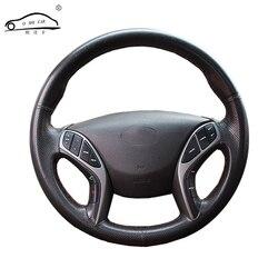 الجلود الاصطناعية عجلة توجيه سيارة جديلة لشركة هيونداي أفانتي i30 2012-2016/مخصص غطاء عجلة القيادة