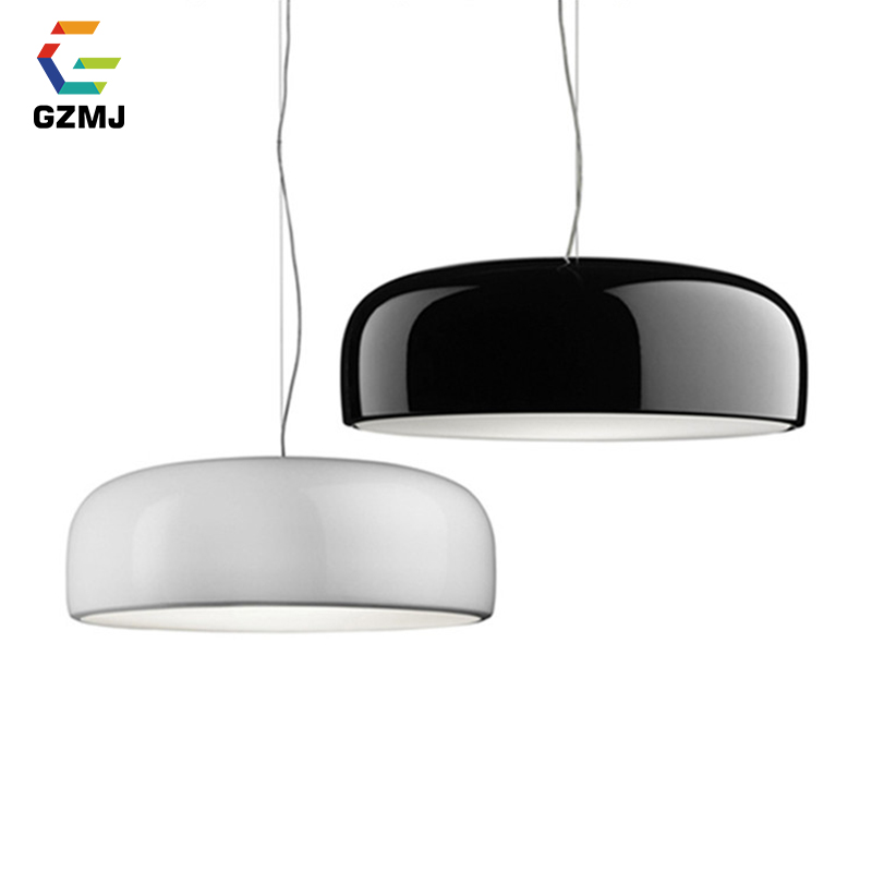 GZMJ Modern Metal LED Pendant Lights White/Black Nordic Brief LED Bedroom Hanging Lamp 90V-240V E27 Bulb Dining Room HangLamp ручка шариковая zebra slide bp115 pu авт телескопич корпус фиолет синие чернила подар коробка