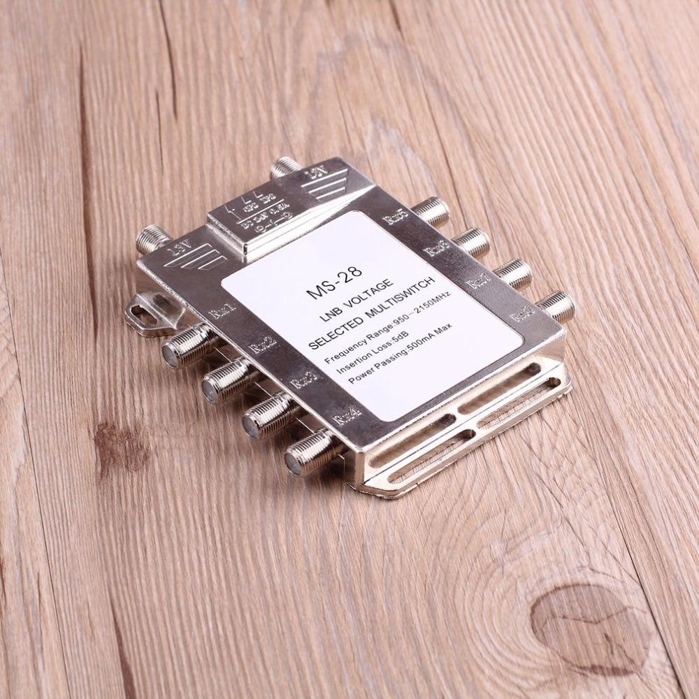Portable 2x8 Signal Satellite Multiswitch 950-2150 mhz LNB Tension de Commutateur Sélectionné Faible Perte LNB Récepteur Multiswitch