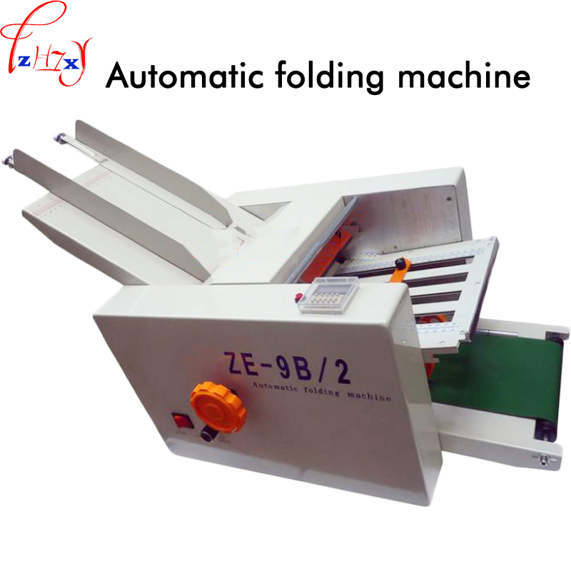 Desktop folding machine automatic folding machine instruction sheet folding machine ZE-9B/2 folding machine 110/220V