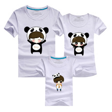 Family Kids Shirts 2016 Men T Shirt Harajuku Boy Girl Anime T-shirt Sport Gym Skate Tshirt Homme Polera Mother Daughter Outfits