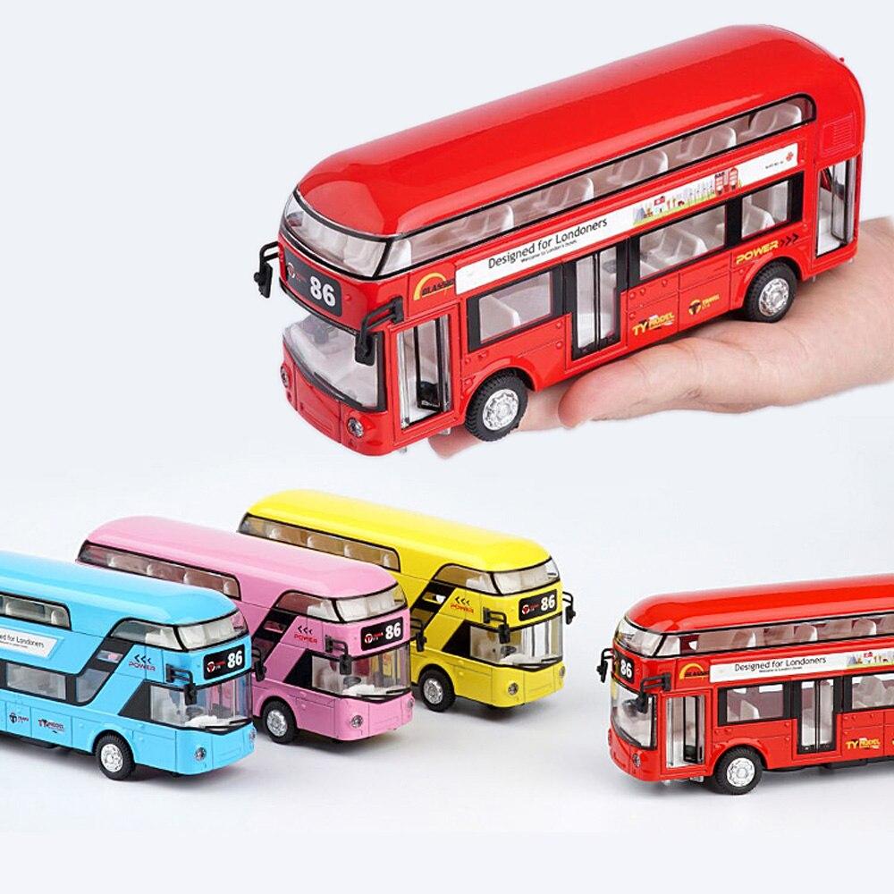 London Bus Double Decker Bus Light Music Open Door Design Alloy Metal Bus Diecast Bus Design For Londoners Toys For Children a bus for miss moss